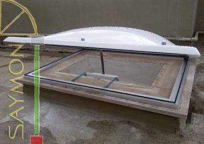 Lucernario 100x80 apertura elettrica