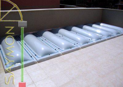 Lucernario composto 6,15x2,10 m.